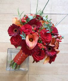 Warm Colour Bridal Bouquet